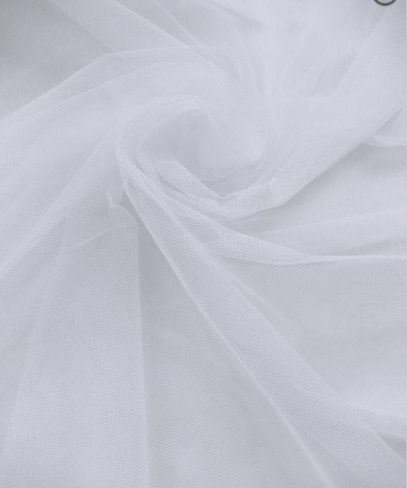 """White 108"""" Wide Bridal Tulle Fabric Available For 49.99 @ 50 Yard Rolls 