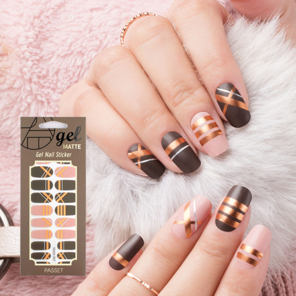Matte Finish/Gel Nail Strips/ Stickers/Nail Wraps/ 2019 New Line 22 Pcs /Simple Chic /No Curing, No Soak Off