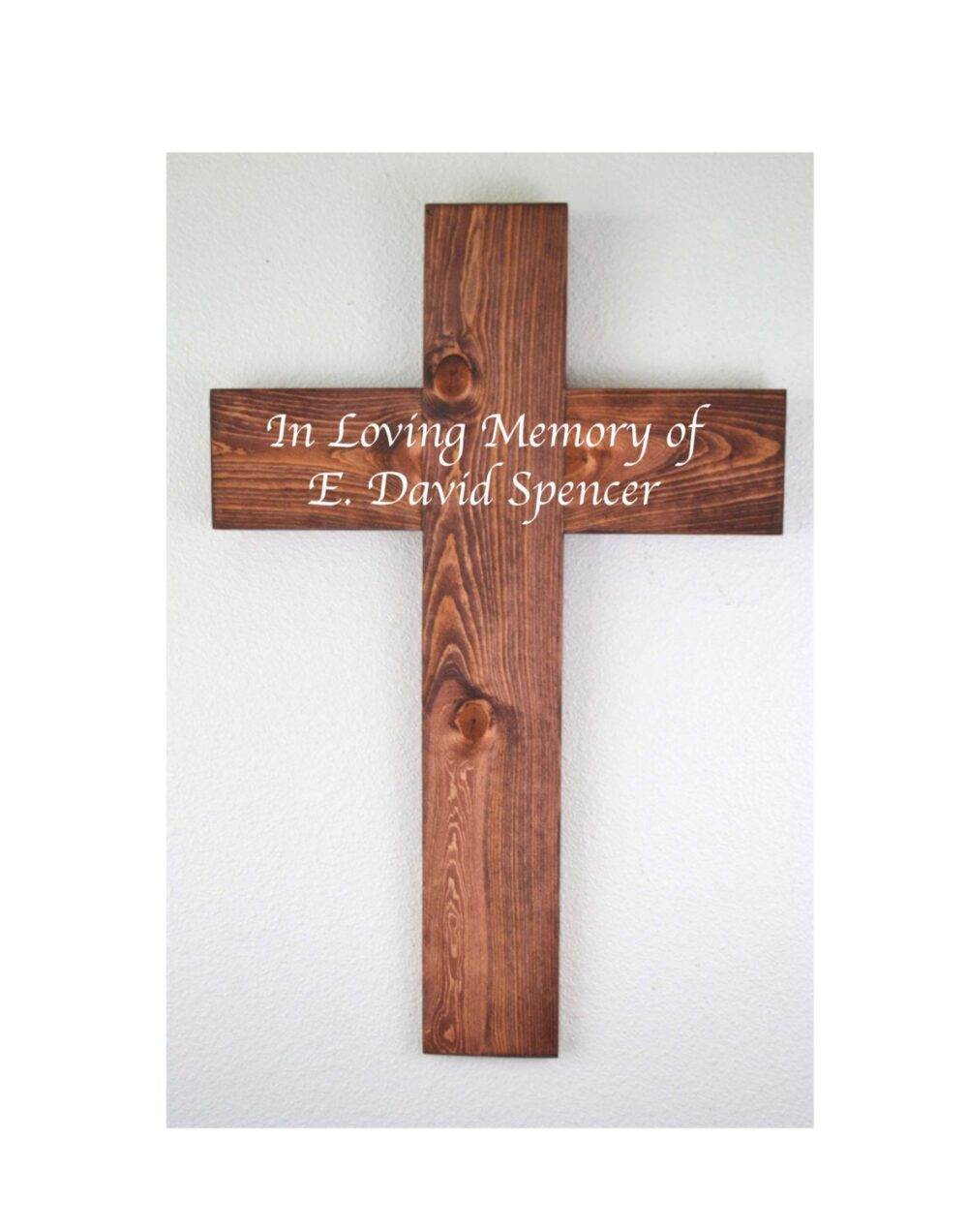 Large Wooden Cross, Crucifix, Memorial, Baptism, Mother's Day Gift, Housewarming Rustic Decor, Confirmation Gift