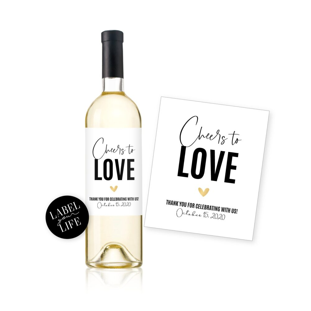 Wedding Favor Wine & Champagne Labels/Cheers To Love