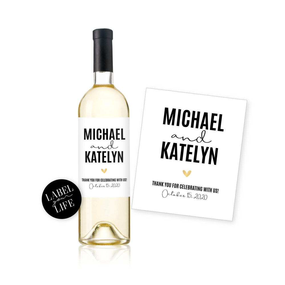 Wedding Favor Wine & Champagne Labels/Thank You Gift