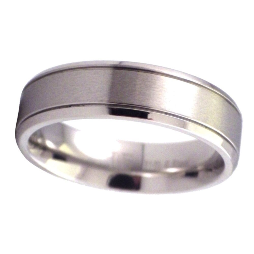 Simple Wedding Band Silver Stainless Steel Promise Anniversary Ring Sizes 12-13