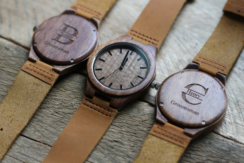 Groomsmen Watches, Set Of 6, Gifts, Mens Wood Watch, Best Man Wooden Party Personalized Groom Gift