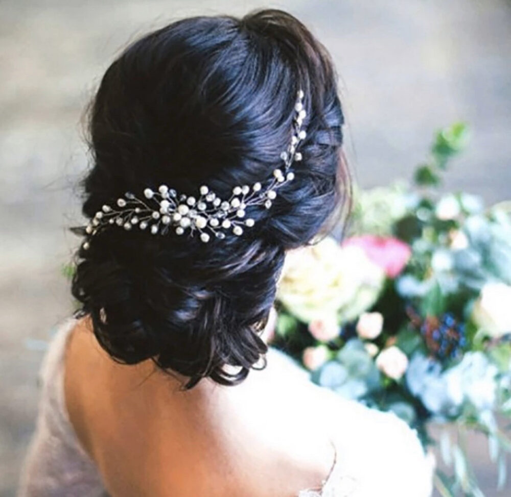 Bridal Head Piece | Pearl Wedding Hair Comb Accessories Pin Crystal Gift