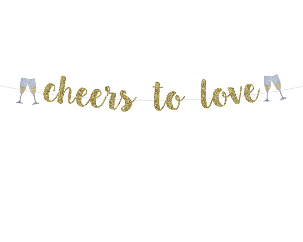 Engagement Party Decorations | Cheers To Love Banner Engaged Ideas Decor Sign