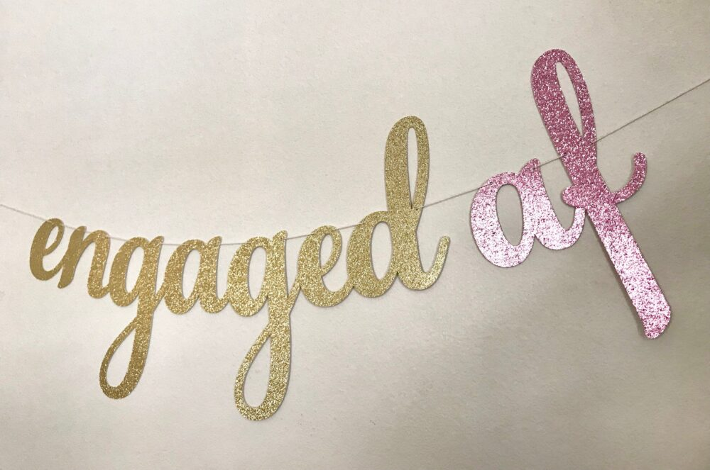 Engagement Banner, Party Engaged Af Decorations, #engaged, Party Decor