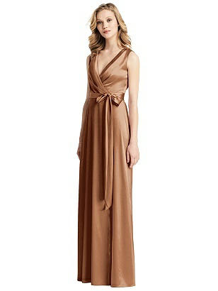 Special Order Sleeveless Stretch Wrap Dress with Sash