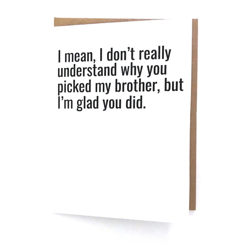Sister in Law Card - Sister-In-Law Birthday Funny Love For Sister-In-Law Wedding Gift Sil Bday