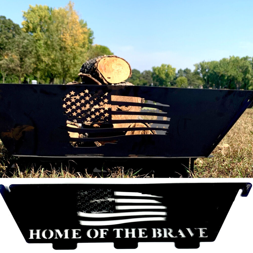 American Flag Fire Pit, Full Custom Personalized Gift, Gift For Him Camping , Camper Decor Patriotic Dad Ring