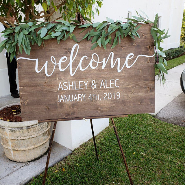 Wedding Welcome Sign, Wood Welcome Sign, Rustic Wooden Sign