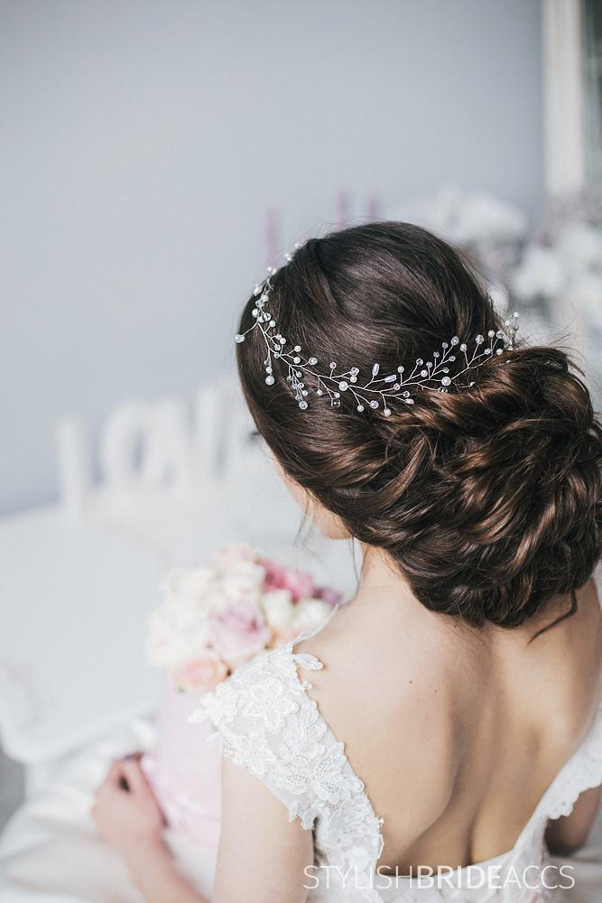 Wedding Hair Vine Crystal & Pearl, Accessories, Engagement Jewelry, Prom