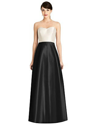 Special Order Strapless A-Line Satin Dress with Pockets