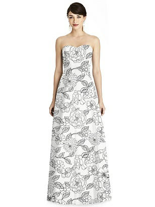 Special Order Floral Seamed Bodice A-Line Dress with Pockets