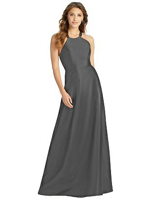 Special Order Halter Lace-Up A-Line Maxi Dress