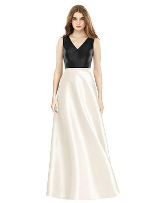 Special Order Sleeveless A-Line Satin Dress with Pockets