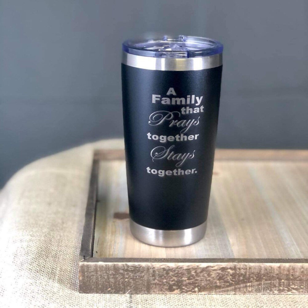 Bible Verse 20 Oz Stainless Steel Travel Mug | Personalized Travel Tumbler Scripture Coffee Cup Pastor Appreciation Gifts Church