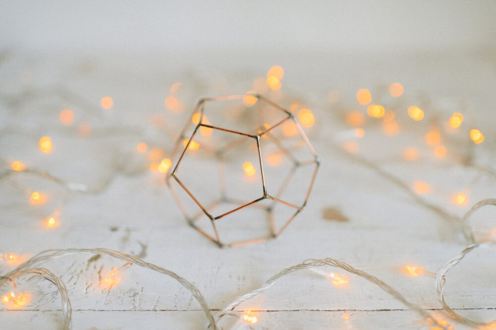 Wedding Candleholder - Copper Wire Decor Table Decoration Candle Holder Geometric Centerpiece