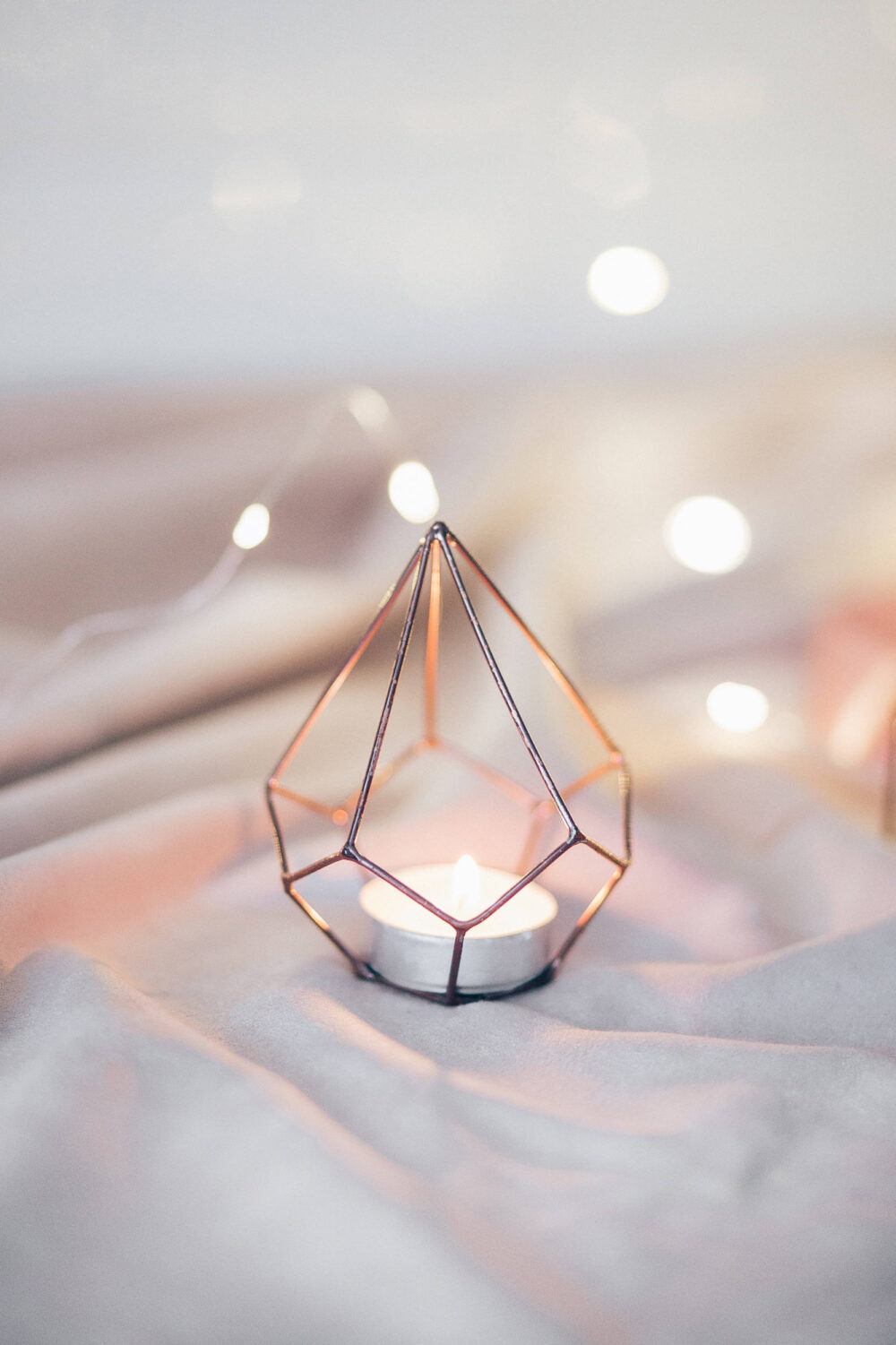 Wedding Candle Holder - Table Decorations Copper Wire Decor Candleholders Geometric