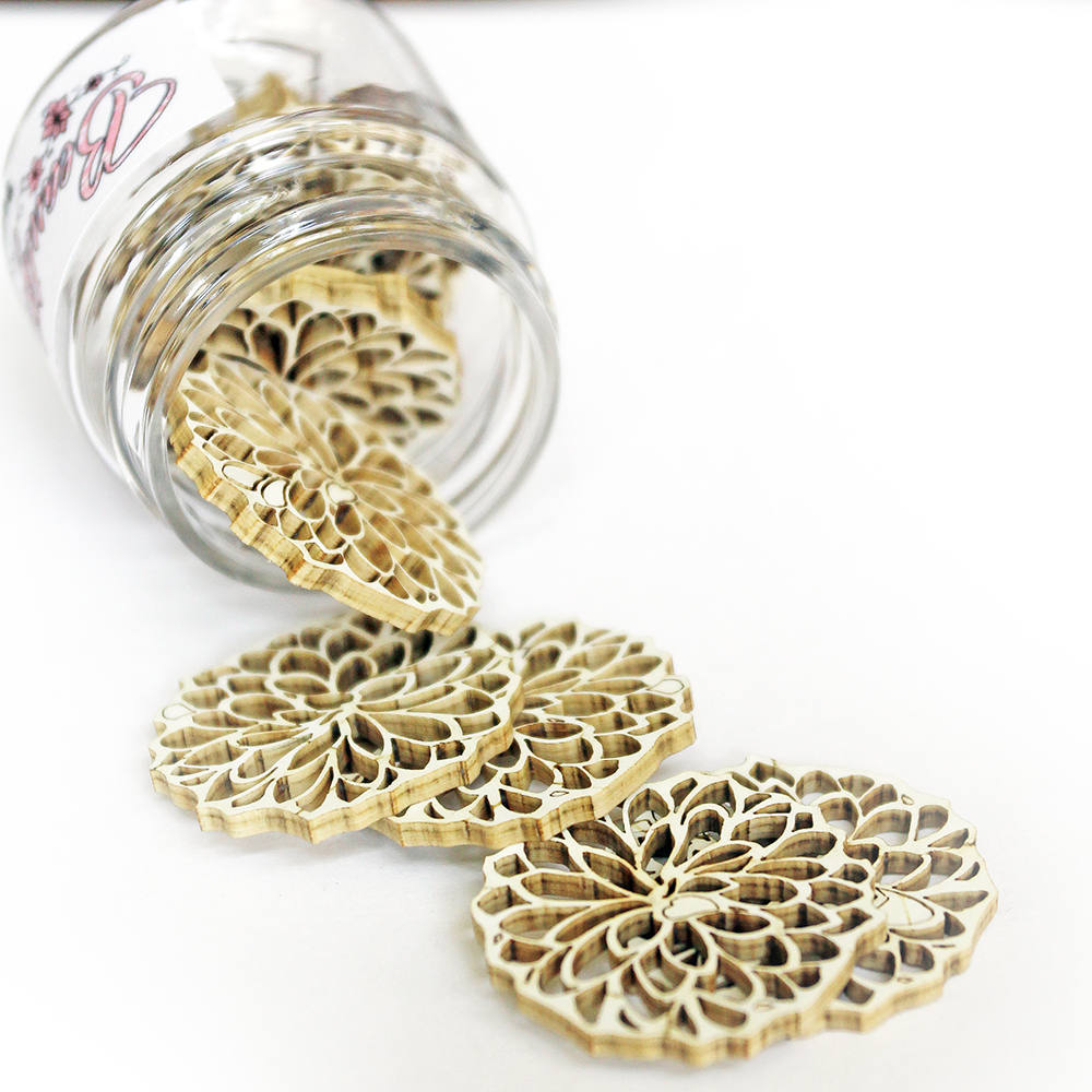 Reneabouquets Beautiful Board - Bits Blossoms Laser Cut Chipboard Double Side Vintage White Coated