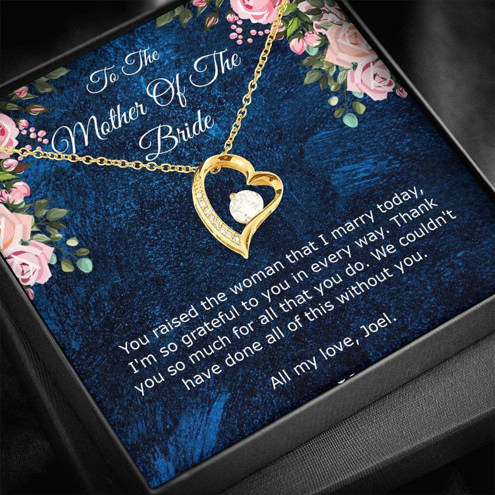 Mother Of The Bride Gift, Mother-In-Law Necklace, Gift From Groom, Future in Law To My Card, Bridal Party