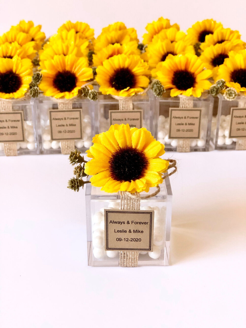5Pcs Sunflower Favors, Wedding Favors Boxes, For Guests, Rustic Wedding, Party Custom