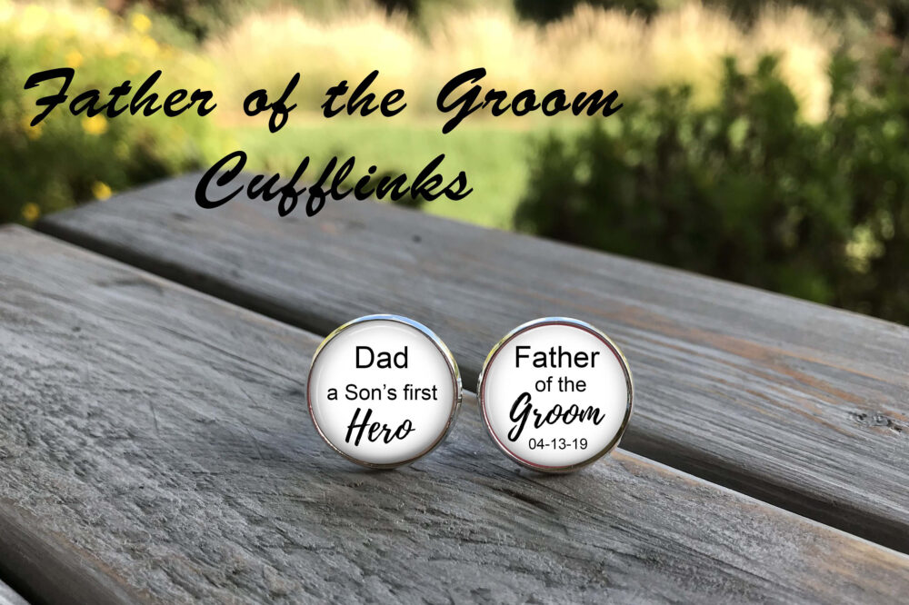 Father Of The Groom Gift, Father Groom Cufflinks - Personalized Gift For Groom, Groom Gift Dad