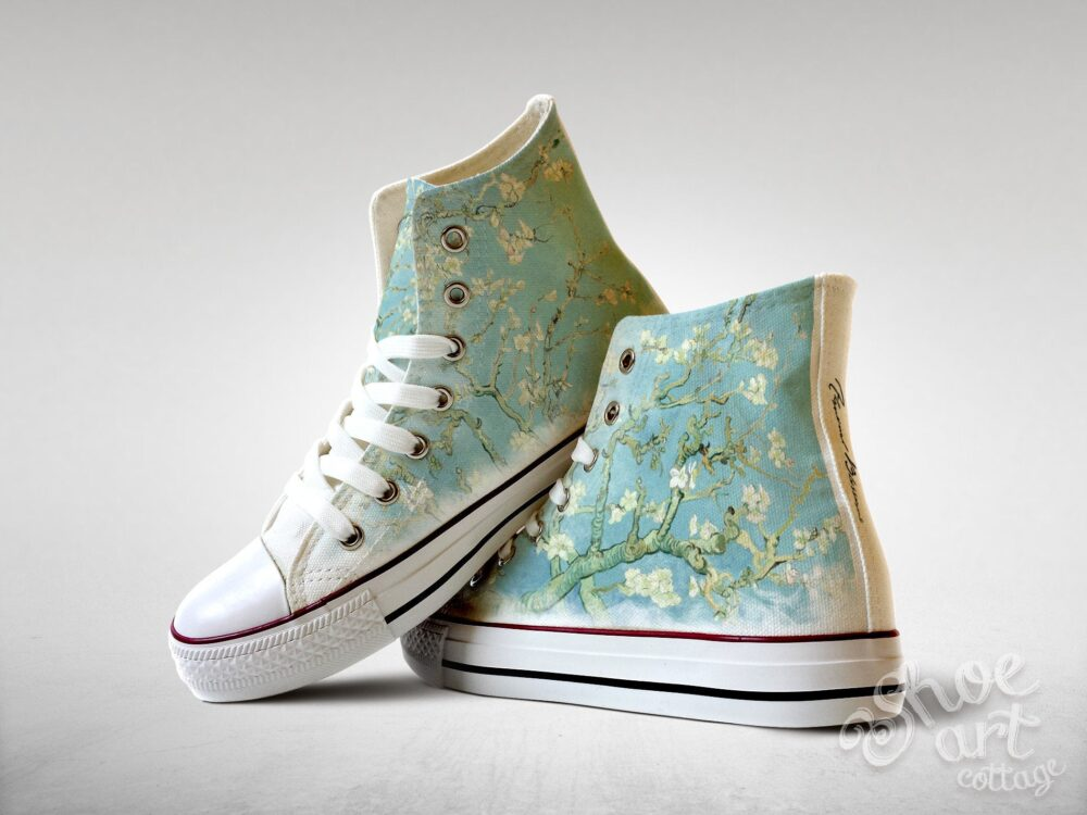 Almond Blossoms - Vincent Van Gogh, Custom Made Shoes