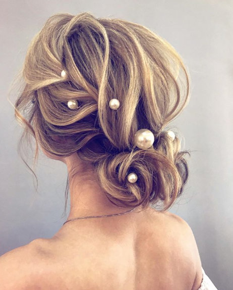 Extra Large Pearl Wedding Hair Pin Bridal Accessories