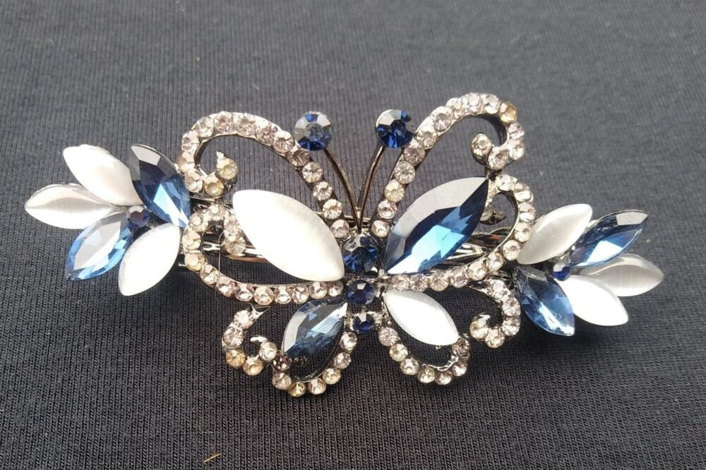 Bridal Hair Clip, Crystal Butterfly Wedding Jewelry Vine Accessory, , Shower Gift