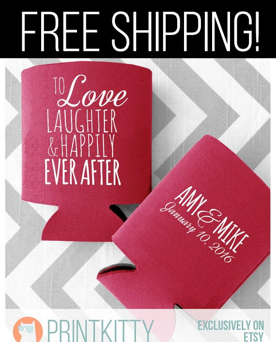 Wedding Koozies, Can Coolers, Coolers Favors, Personalized Koozies | 25