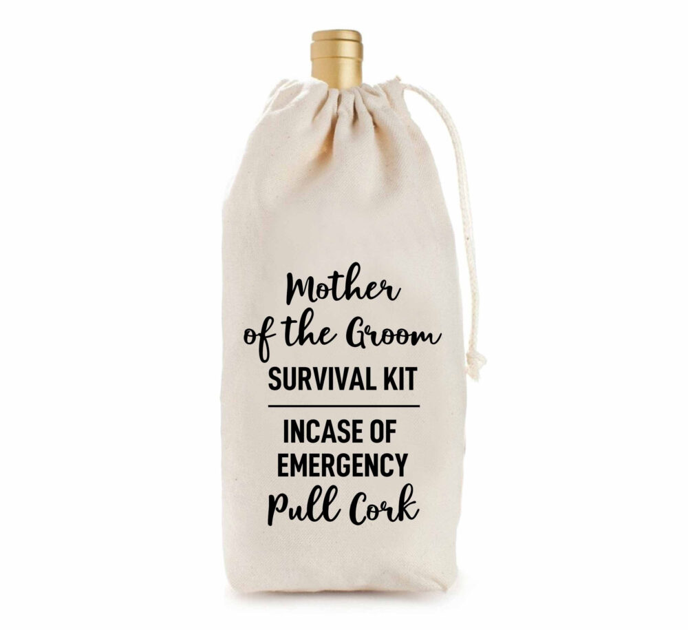 Mother Of The Groom Wine Bag, Wine Gift Bag-Wedding Gift-Hostess Gift-Engagement Wine Bag-Party Decor-Bride To-Gift For Her-Wedding Gift