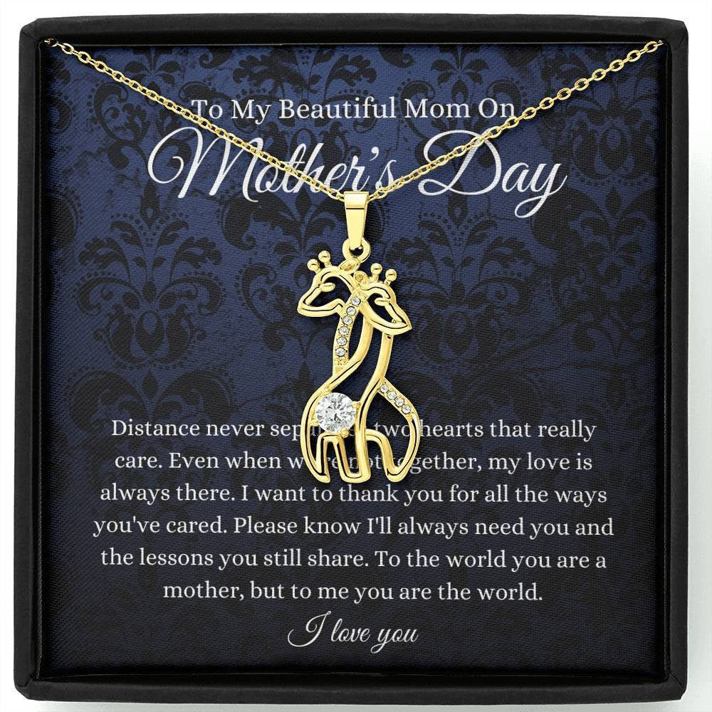 Giraffe, Gifts For Mother's Day Necklace Mother Daughter Gift Necklace, Mom 2021 Lockdown Present