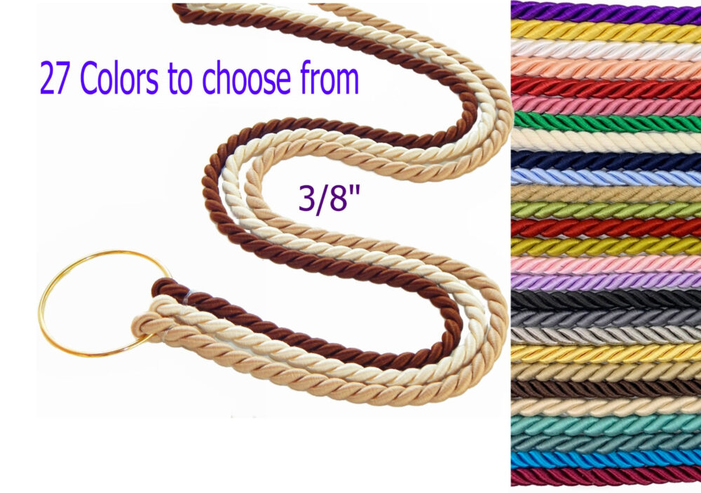 """Cord Of Three Strands, Wedding Unity Braids®, Knot, Choice 27 Colors, Gods Cords, 3/8"""" Cords, Ideas"""