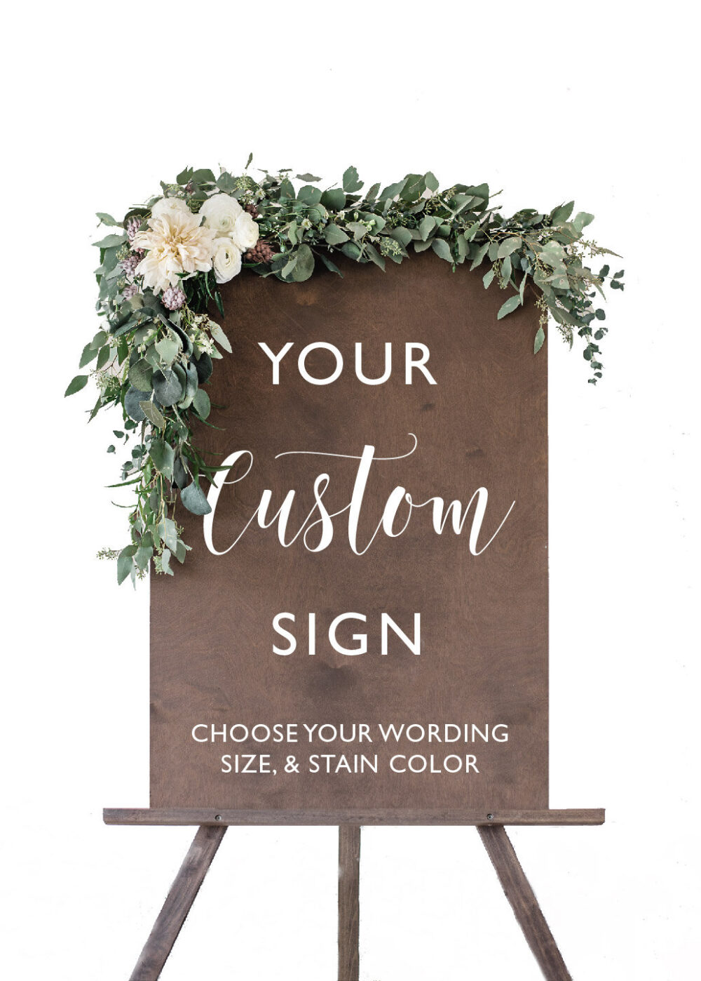 Custom Wedding Welcome Sign   Rustic Signage Wood Signs Decor - Scc-5