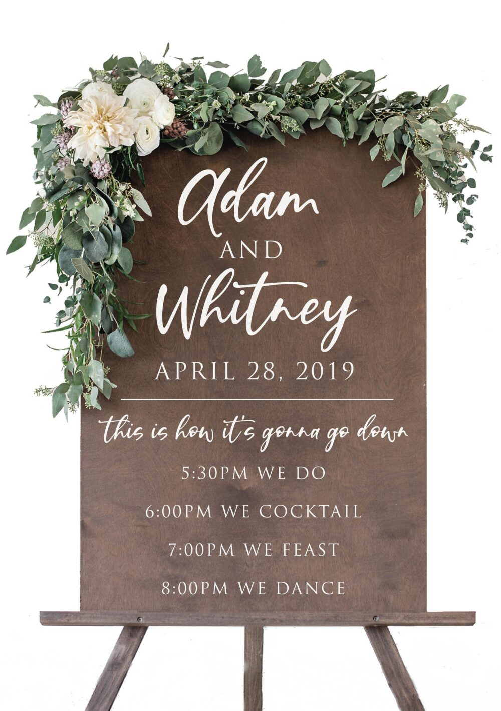Order Of Events Welcome Wedding Sign   Rustic Signage Wood Signs Decor - Scc-82