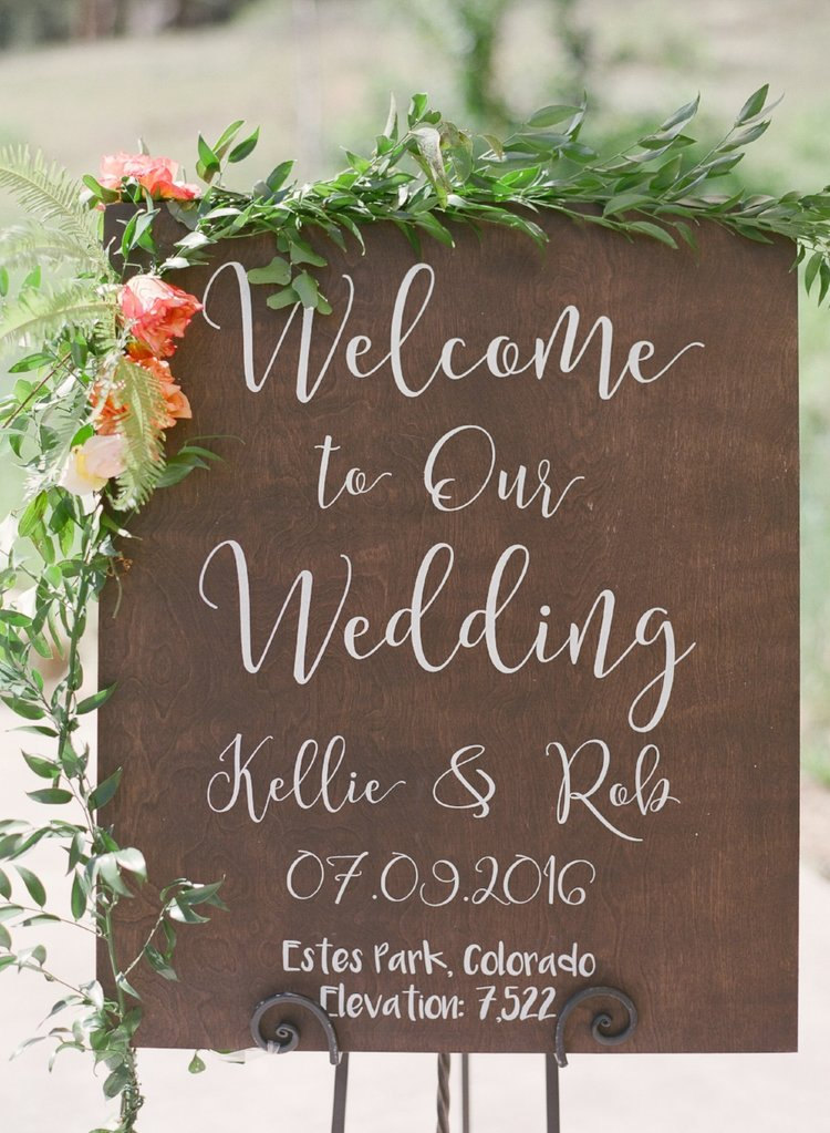 Welcome To Our Wedding Rustic Sign | Wooden Signs Wood - Ws-238