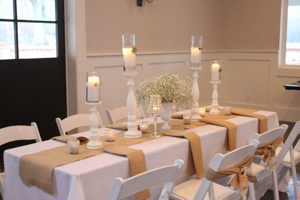 Burlap Table Runner, Rustic Wedding, Barn With Or Without Fringe - Natural Cream White Runners