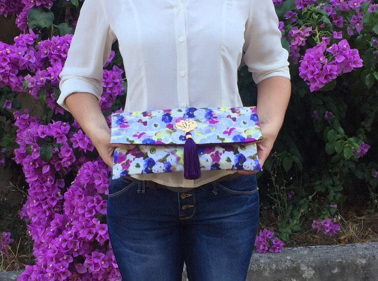 Holiday Gift/ Wedding Clutch/ Bridesmaids Clutch/Floral Handbag/ Evening Accessories/ Unique Gift For Her