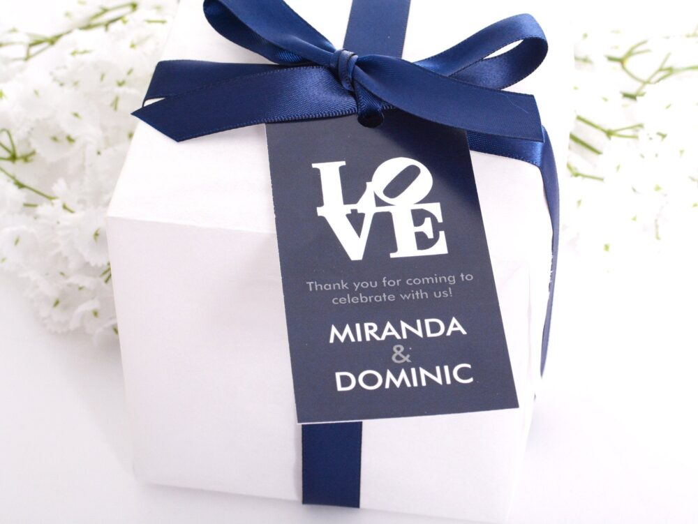 Wedding Favor Tags - Wine Bottle Tags, Box Card, Bag Personalized Love Hanging #wtg-266