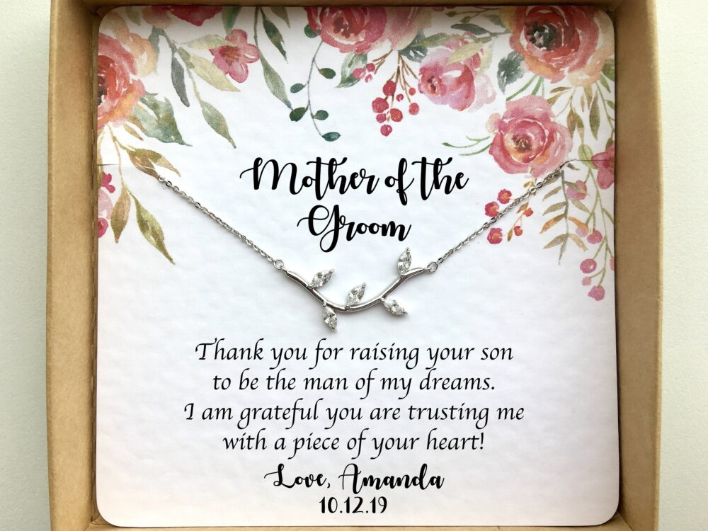 Mother Of The Groom Gift From Bride, Mother-In-Law Gift, Future Mother in Law Necklace Wedding Day Jewelry Gifts, Mother-Of-The-Groom Gift