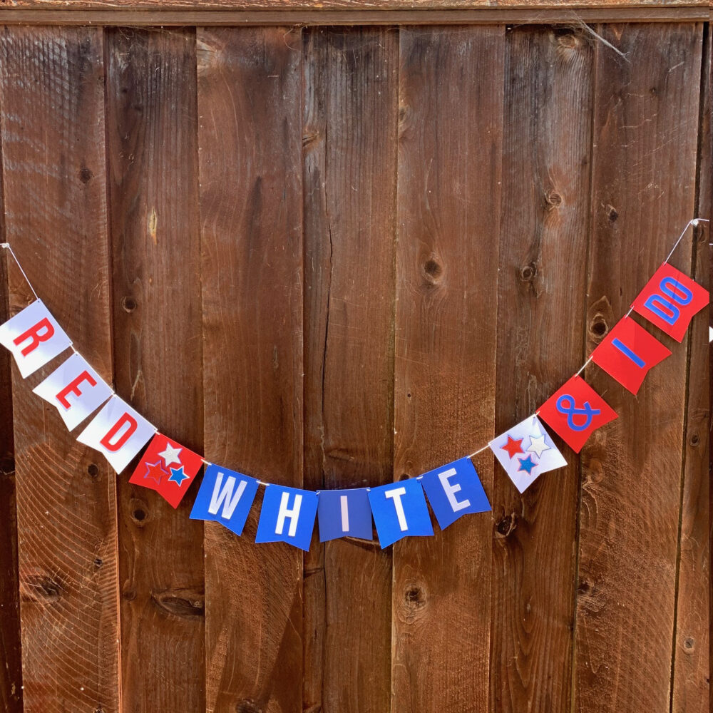 Red, White & I Do Bridal Shower Wedding Banner | 4Th Of July Decorations