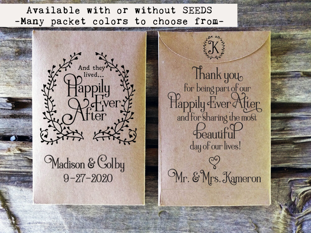Seed Packet Favor. Rustic Wedding Favor. Bridal Shower Gift. Custom Seed Packet. Favors. Country