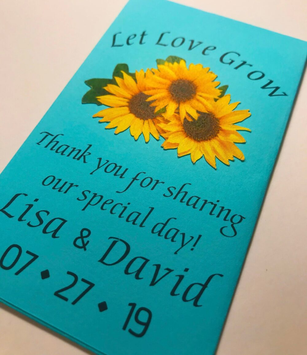 Wedding Favor Seed Packets - Let Love Grow