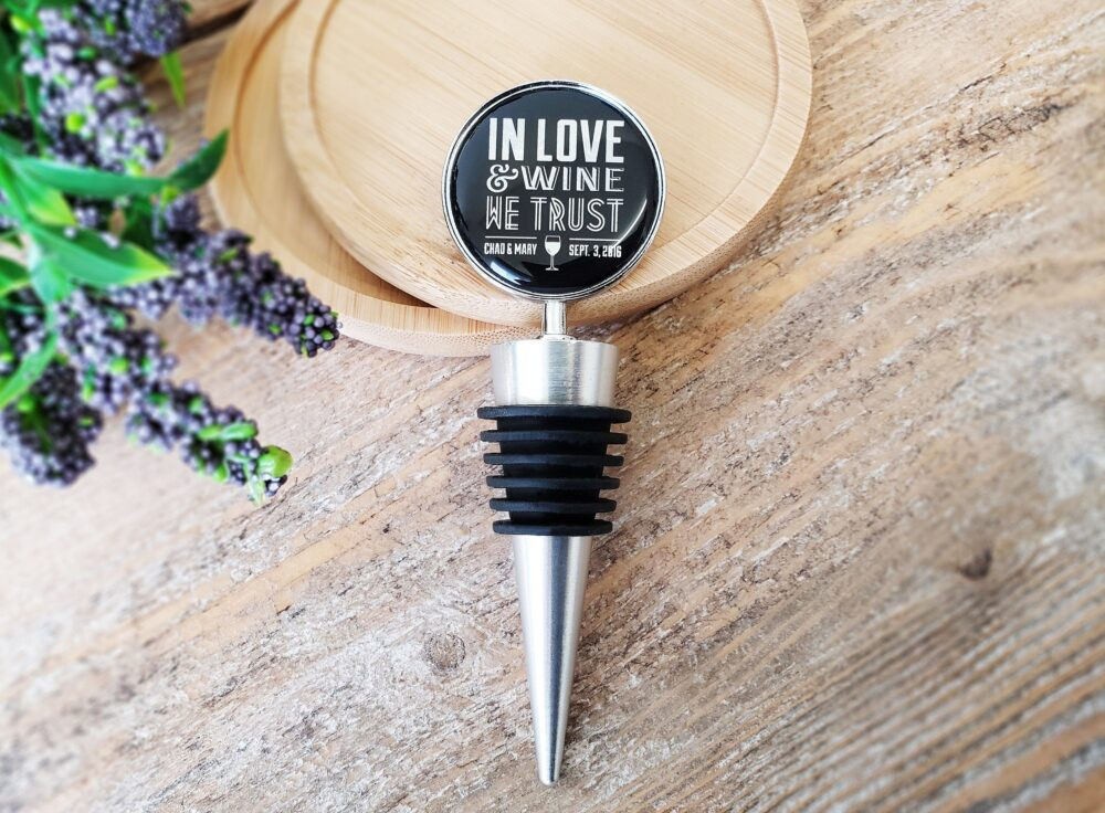 Wedding Wine Stopper - Personalized Stoppers Favor