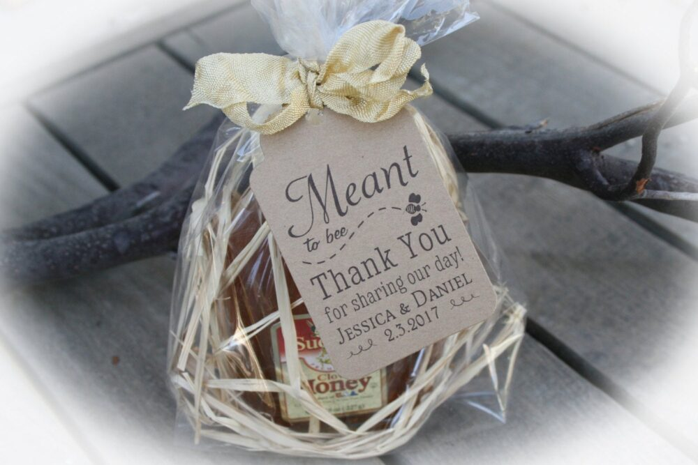 Honey Wedding Favor | Meant To Bee Diy Kits Tags