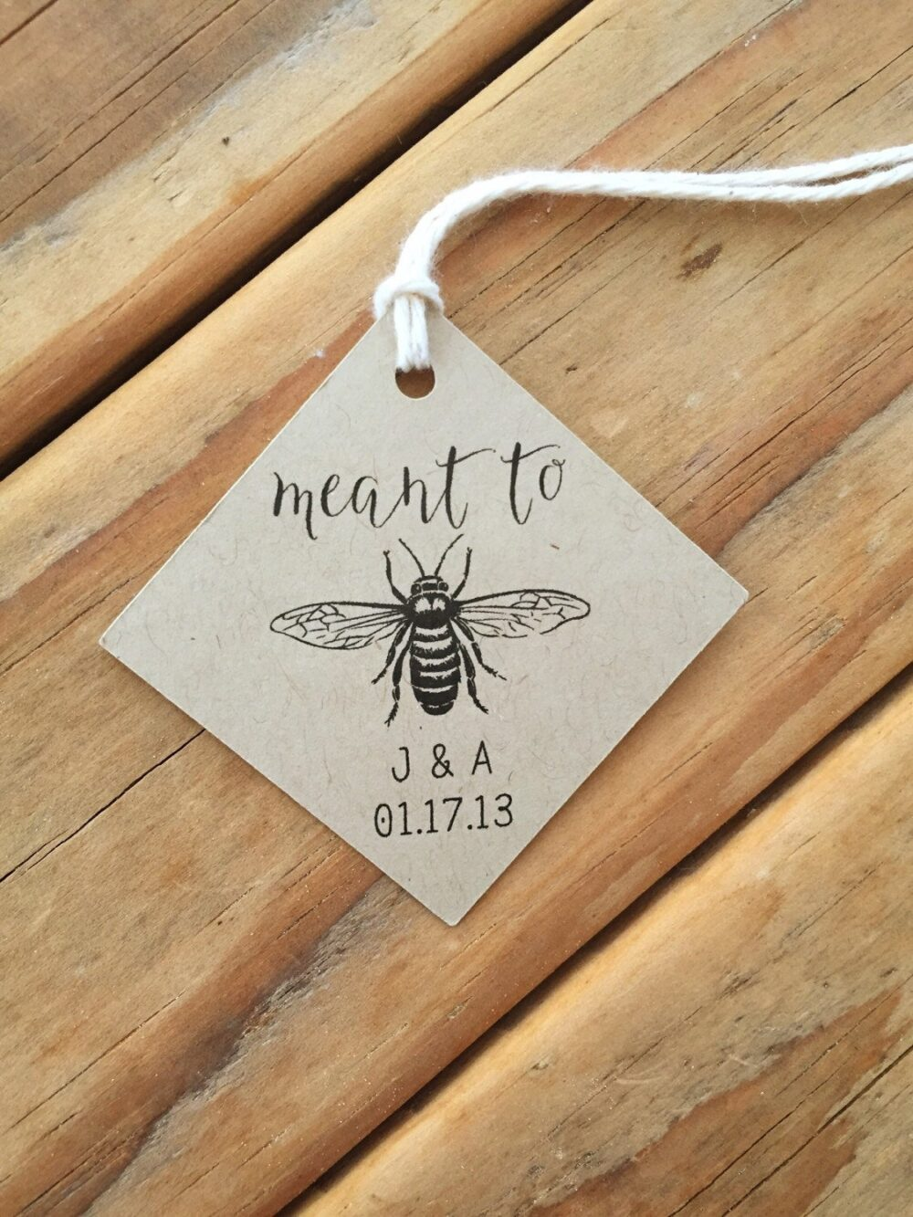 Meant To Bee Wedding Favor Tags Honey