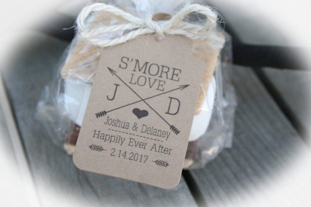 S'mores Wedding Favor Tags | Smore Love Kits Or Only Smores Favor