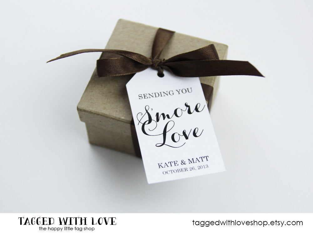 Smore Wedding Favor - Favors Love Tags Small