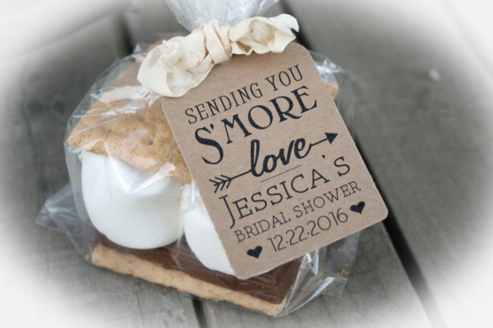 Bridal Shower Favor Smores Kit Or Tags Only -Diy Kits Include Bags/Tags W/Ribbon Twine | Smore Love Shower Arrow