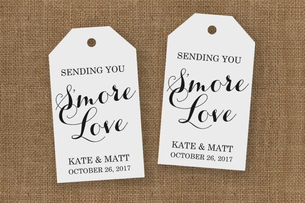 Smore Wedding Favor - Favors Love Tags Large